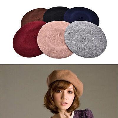 Béret Uni chapeau français femmes d'automne d'hiver Chapeaux de mode de fille AS 2