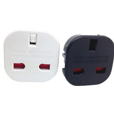Travel UK to EU Euro Stecker Wechselstrom Ladegerät Adapter Konverter Socket LM