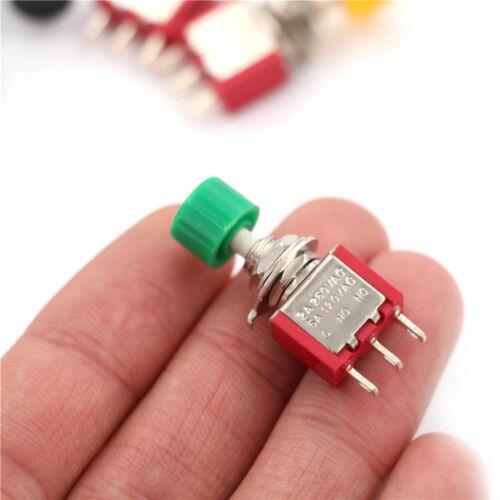 2 STÜCKE 3pin Momentary Push Button Kippschalter PS-102 DS612 1NO 1NC CJ