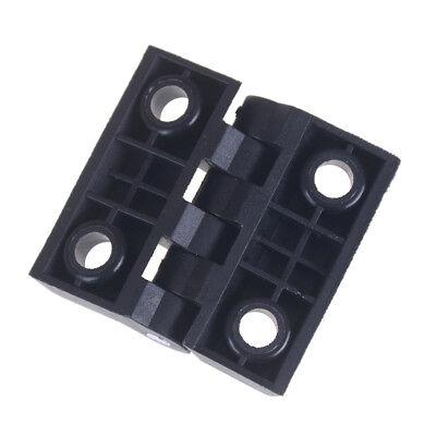 Black 2 Leaves Reinforced Plastic Bearing Butt Hinge