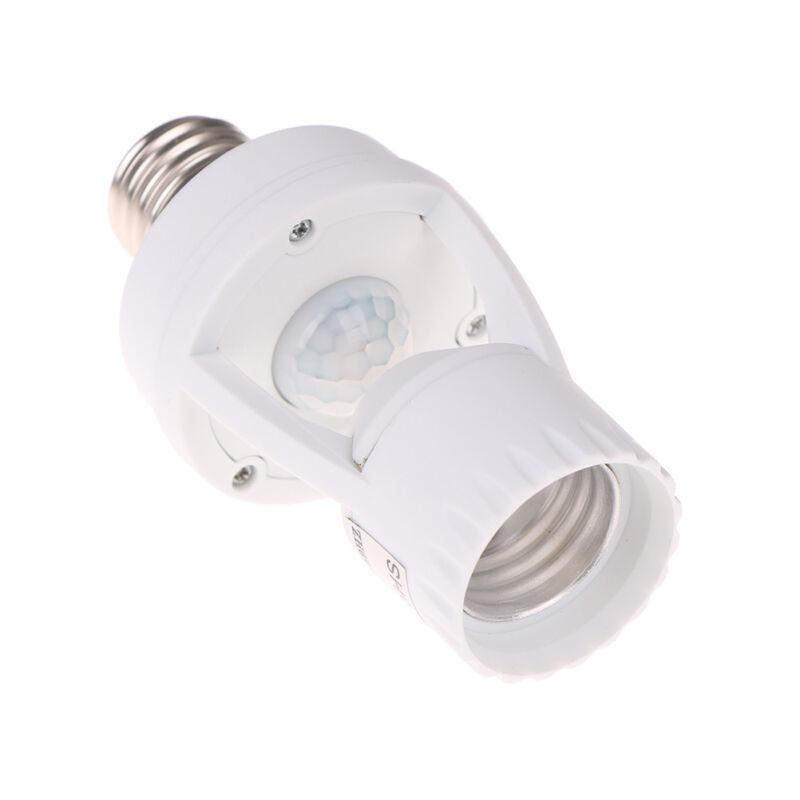 Infrared PIR Motion Sensor E27 LED Light Lamp Bulb Holder.Socket Switch BC 6