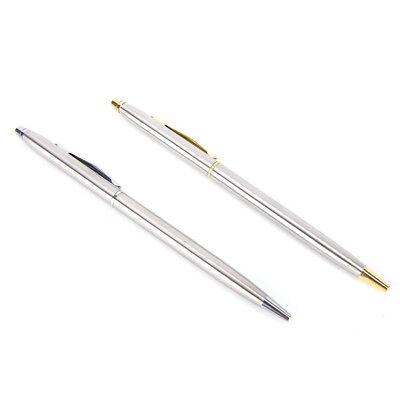 1pc Metal Ballpoint Pen Stationery Stainless Steel Rod Rotating Pen BallpenPDH 3
