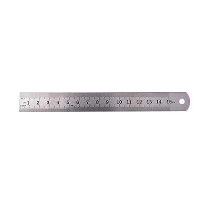1PC Metric Rule Precision Double Sided Measuring Tool  15cm Metal Ruler Pip JB 4