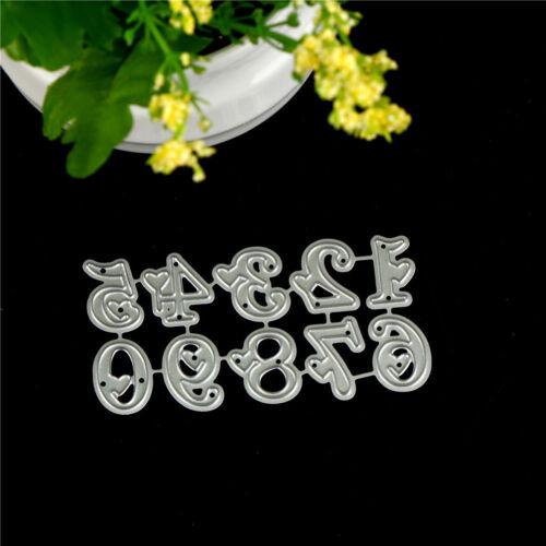 10Pcs Digital love Metal Cutting Dies For DIY Scrapbooking Album Paper Cards## 2