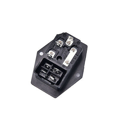 3Pin iec320 c14 inlet module plug fuse switch male power socket 10A 250V_Lq 6