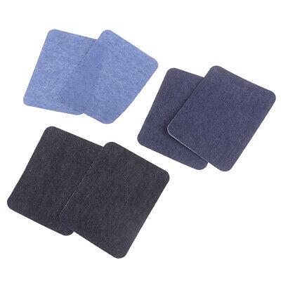 6X Assortiment De Réparation De Jeans En Coton 3Color Fer Sur Denim Patch CBGS 3