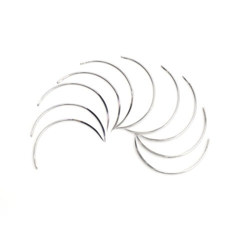 10Pcs Metal 1/2 8*28 Corner Medical Needle Suture Surgical Tool Double Eyelid TO