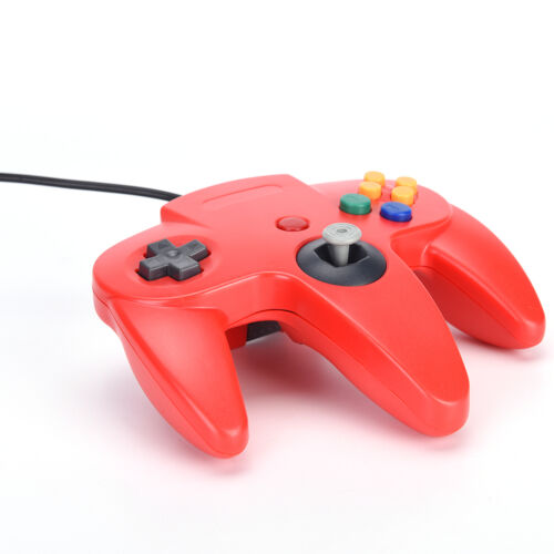 1x Long Handle Gaming Controller Pad Joystick For Nintendo N64 System BH 4