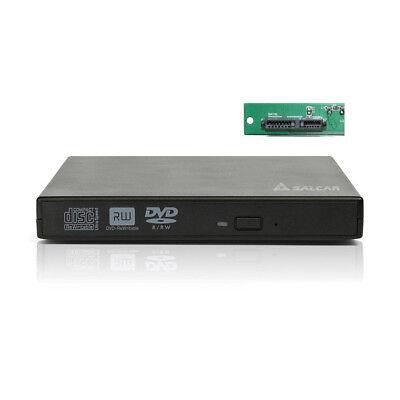 USB2.0 Slim 12.7mm Extern DVD Laufwerk Brenner Gehäuse SATA CD Laufwerksgehäuse