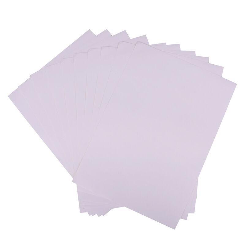 10 feuilles A4 autocollant auto-adhésif blanc mat imprimable mat Iink pour  ~PL 4