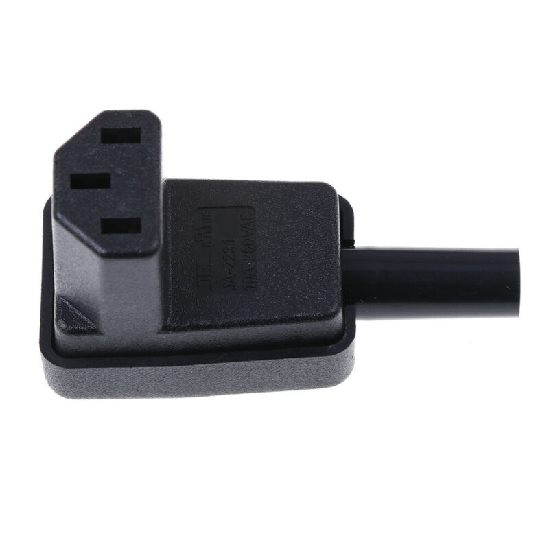 IEC-C13 down angle socket receptacle rewirable female connector plug UK 6