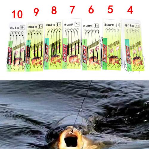 5pcs Carp Fishing Hook Link  Made Hair Combi Rig  Hook Ready Tied Horsehook Pip