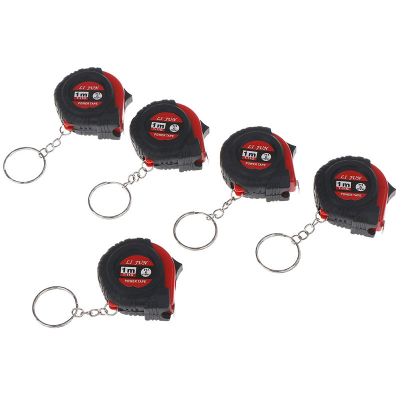 Einziehbares Lineal Maßband Schlüsselanhänger Mini Taschenformat Metrisch 1m HH