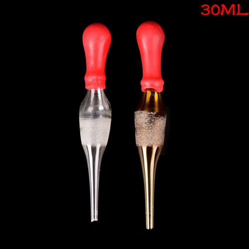 30ml Rubber Head Glass Pipettes Dropper Lab Glassware Tool for Veterinary Test G 5