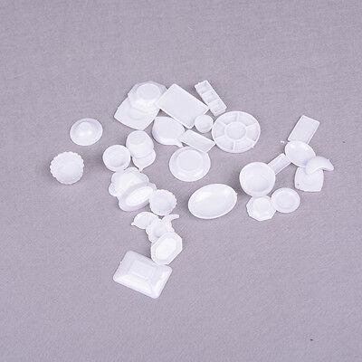 33pcs Mini Dollhouse Miniature Kitchen utensils dish plate tableware Toys SA 2