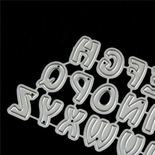 26Pcs Capital Letters Metal Cutting Dies For DIY Scrapbooking Album Paper Car KY 6