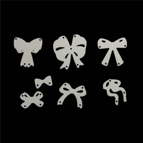 7pcs bow cutting dies stencil scrapbook album paper embossing craft DIY!# 9