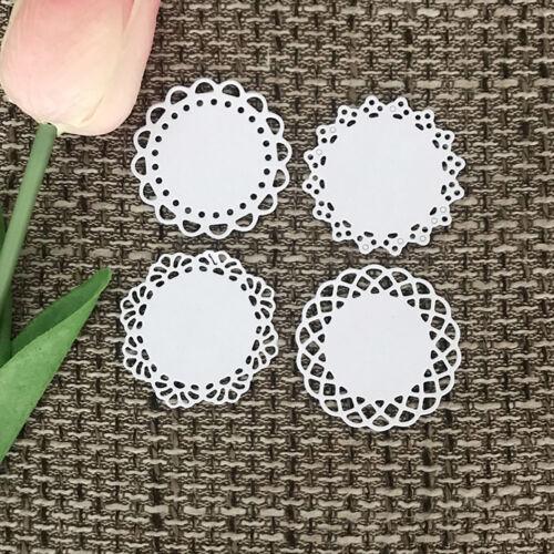 Round lace Design Metal Cutting Die For DIY Scrapbooking Album Paper Card 3