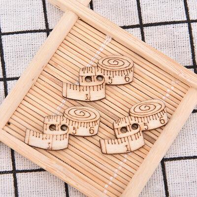50X herramienta de coser de madera hecho a mano botón de Scrapbooking carft K&Y