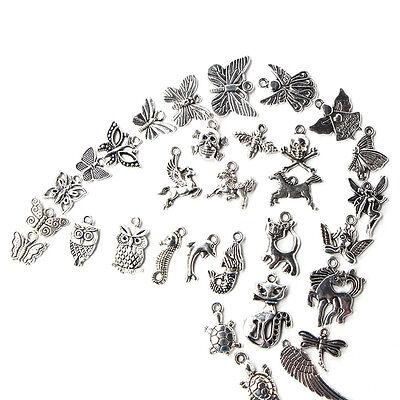 Wholesale 1000pcs Bulk Lot Tibetan Silver Mix Charm Pendants Jewelry DIY HOT 6