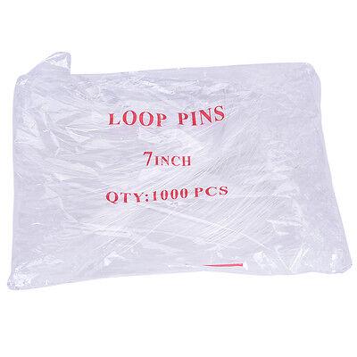 1000X/lot Loop Plastic Tag Ties Fastener Security Loop Snap Lock Plastic Tags~GQ 9