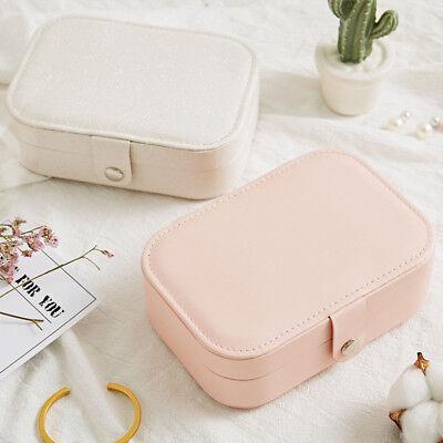 Portable Travel Jewelry Box Organizer Leather Jewellery Ornaments Case Storage A 4