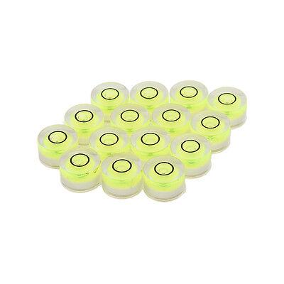 10pcs Tiny Disc Bubble Spirit Level Round Circle Circular Green Tripod 10x6mm VU