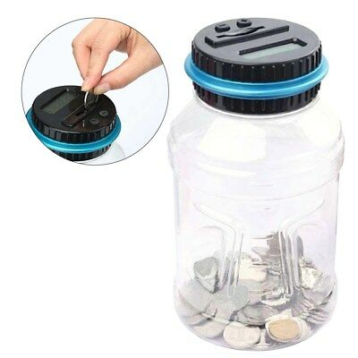 Coin Auto Counting MONEY JAR Cup Digital LCD Automatic Counter Piggy Bank Change 3