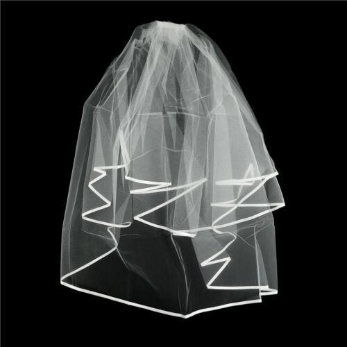 Elegant White Elegant Beauty Two Layers Short Net Tulle Bride Veil For Wedding 4