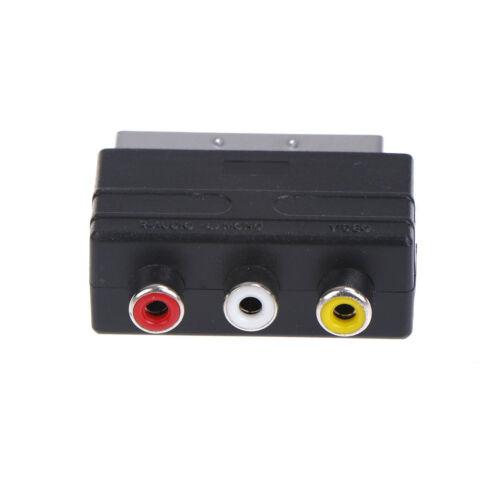 1,5m Scart zu 3x Phono Kabel EINLASS AUSLASS Schaltbar Dreifach RCA Kombination