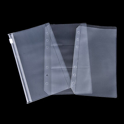 A5/A6 Transparent Zip Lock Envelope Binder Pocket Refill Organiser StationeryM&C 4