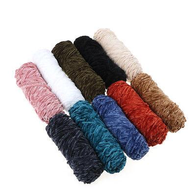 100g Velvet yarn Soft protein Cashmere silk wool Yarn crochet handmade knitti qr 9