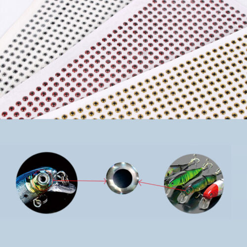 500PCS 3-6mm Chartreuse Eyes 3D Holographic Fishing Lure Eyes FlyTying Jig Cr MC 3