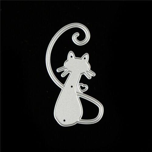 Love Cat Design Metal Cutting Dies For DIY Scrapbooking Album Paper Card Cw 6