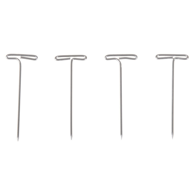 "50X Metal 38mm//1.50/"" T Pins For Modelling Macrame DIY Wigs Y8D4 Too Craft A7W8"