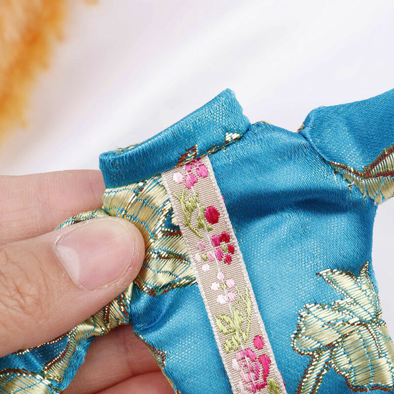 Doll handmade unique dress clothes for chinese traditional dress cheongsam  El 9