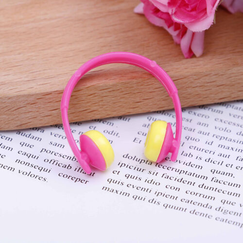 5PCS For Doll acessories plastic headphones multicolor mixed Pip CABLCA 3
