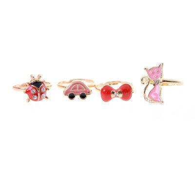 2x Fashions Adjule Kids Sweet Alloy Rings Children Costume Jewelry Toy Jw 4