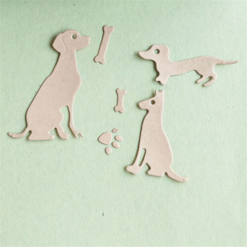 dog with bones scrapbook cuttings dies metal die cuts for diy scrapbook decor EL 2