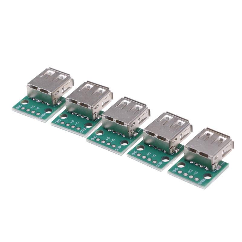2XMini USB Typ B auf DIP 254mm Breakout Board 5-poliger USB-Buchsenadapter W9I3