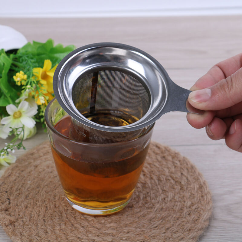 Mesh tea infuser reusable tea strainer teapot stainless steel loose tea filter