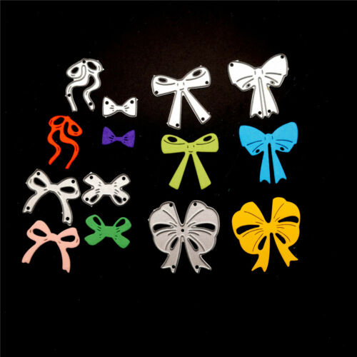 7pcs bow cutting dies stencil scrapbook album paper embossing craft DIY!# 2