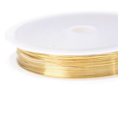 0.3/0.4/0.6/0.8 Plated Copper Wire Beads Jewelry Making DIY Craft Honey Hh 6