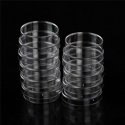 10Pcs Sterile Polystyrene Plastic Petri Dishes Plate With Lids 35x15mm YC