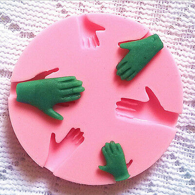 Human Hand Fondant Cake Decorating Silicone Mould Fimo DIY Mold Tools Best TNIU