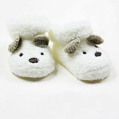 Baby-Socken-Säuglings-nette Bären-Krippe-warme Schuh-Socken  ^