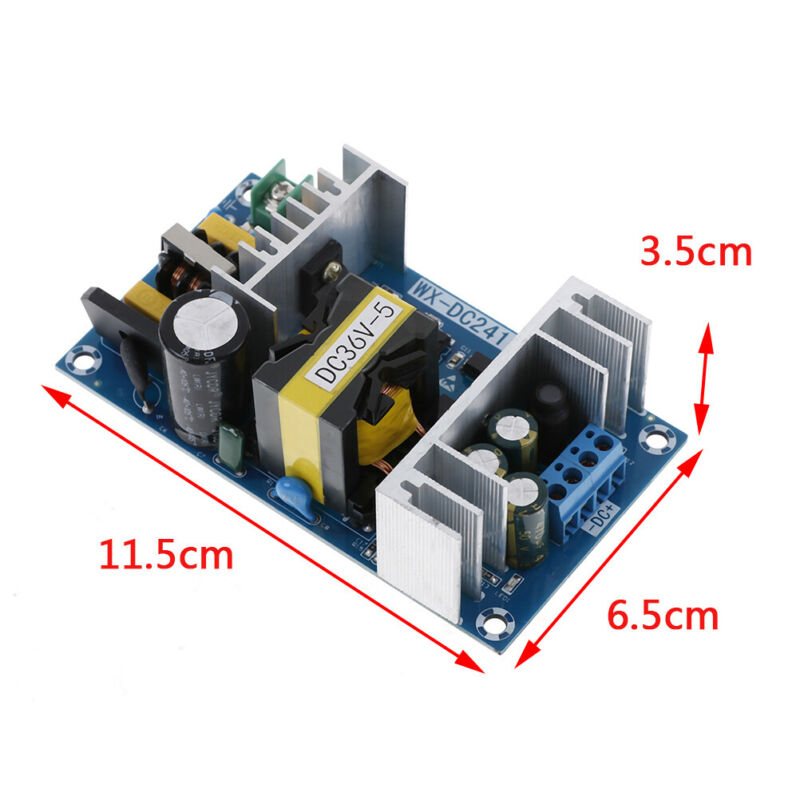 AC-DC 100-240V to 36V 5A 180W 50/60HZ Power Supply Switching Board Module dnTEC 3