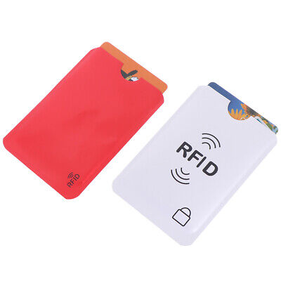 10Pcs Credit Card Protector Secure Sleeve Rfid Blocking Id Holder Foil Shield KW 3