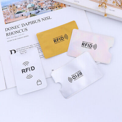 10X Credit Card Protector Secure Sleeve RFID Blocking ID Holder Foil Shield XS 11