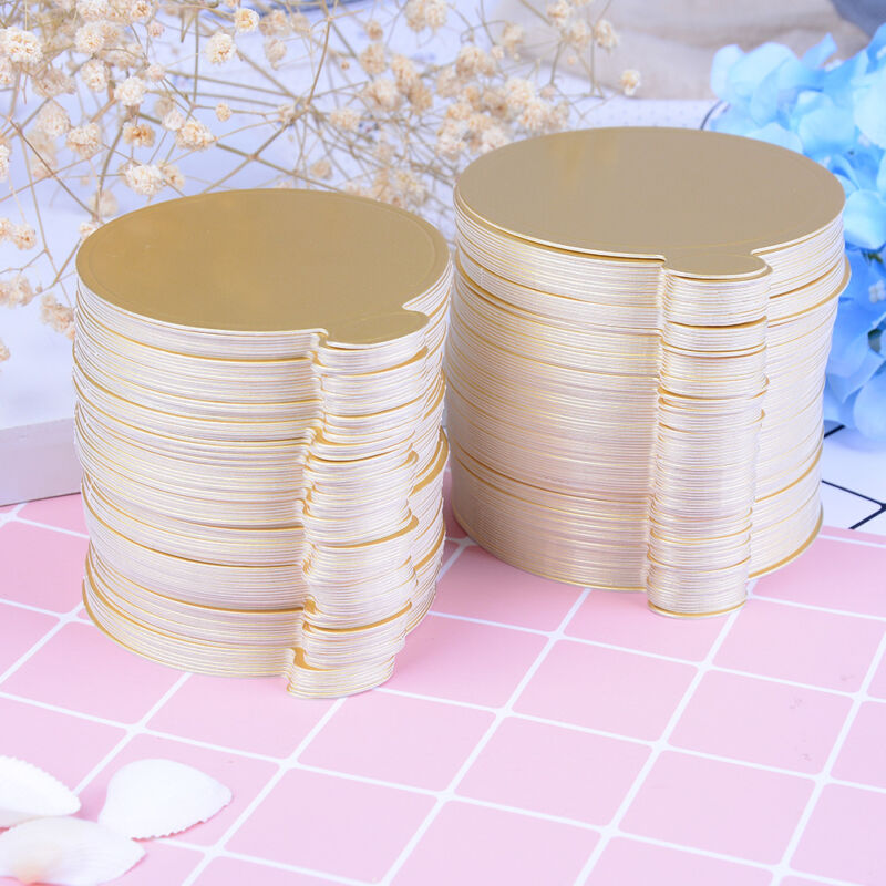 100pcs round cake base disposable paper coasters practical cupcake board basesBC